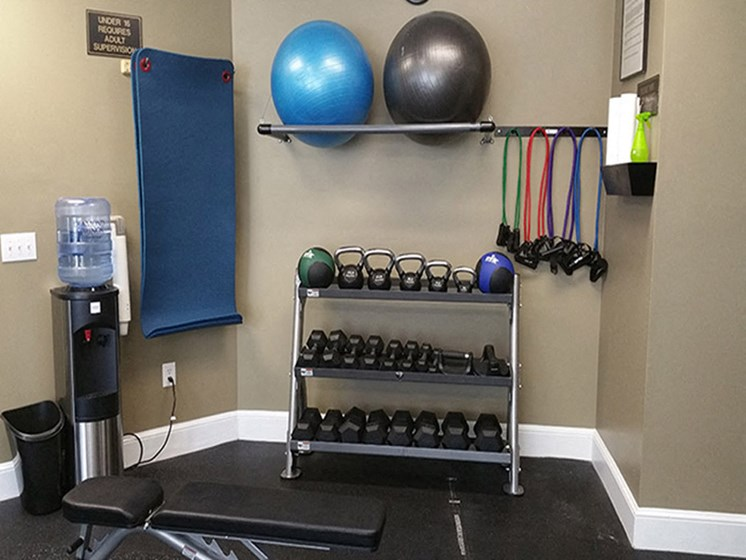 Advanced Cardio and Free Weights at Abberly Grove Apartment Homes by HHHunt, Raleigh