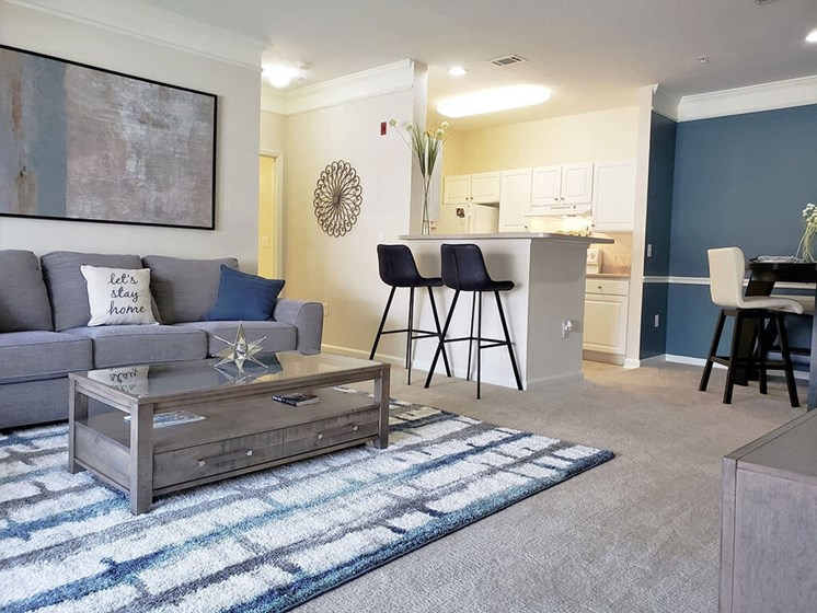 Expansive 9 Foot Ceilings with Triple Crown Molding for a Light, Open Feel at Abberly Grove Apartment Homes by HHHunt, Raleigh, NC, 27610