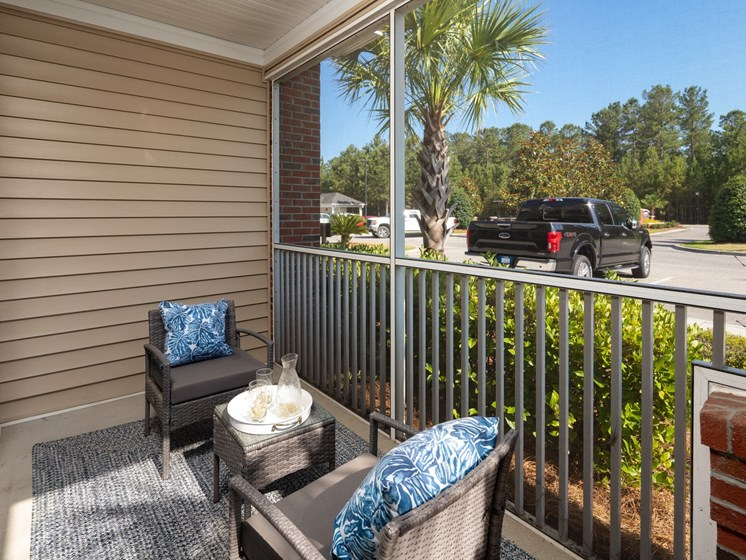Large Private Patios & Balconies at Abberly Chase Apartment Homes by HHHunt, Ridgeland, SC, 29936