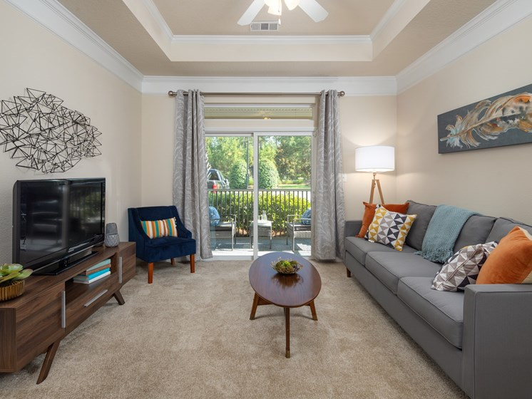 Modern Living Room at Abberly Chase Apartment Homes by HHHunt, Ridgeland