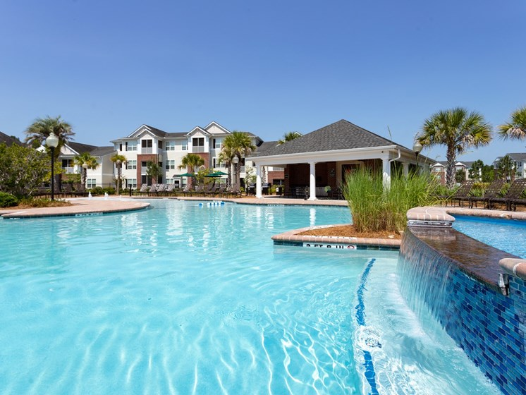 Glimmering Pool at Abberly Chase Apartment Homes by HHHunt, Ridgeland, SC