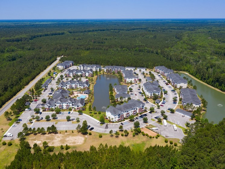 Aerial View OF Property at Abberly Chase Apartment Homes by HHHunt, Ridgeland, South Carolina