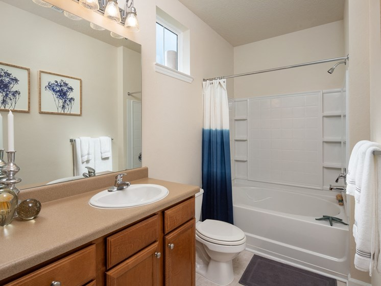 Large Soaking Tub In Master Bathroom at Abberly Chase Apartment Homes by HHHunt, Ridgeland, South Carolina