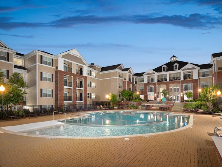 Crystal Clear Swimming Pool at Abberly Village Apartment Homes by HHHunt, South Carolina, 29169