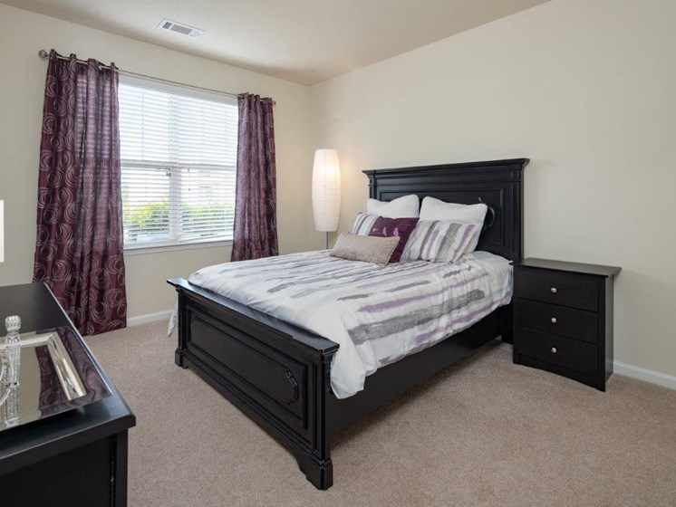 Spacious Bedroom With Comfortable Bed at Abberly Village Apartment Homes by HHHunt, South Carolina, 29169