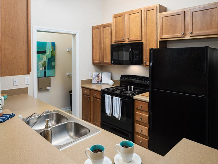 Fully Equipped Kitchen at Abberly at West Ashley Apartment Homes by HHHunt, South Carolina