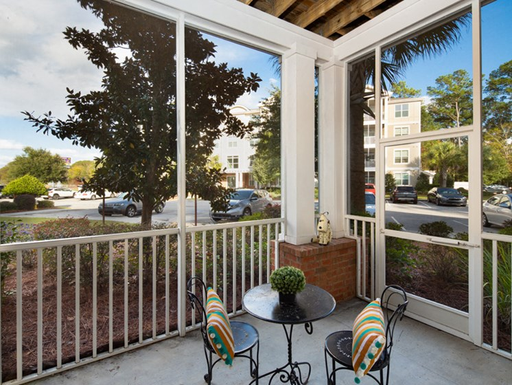 Screened Porches for Relaxing Evenings at Abberly at West Ashley Apartment Homes by HHHunt, Charleston, SC, 29414