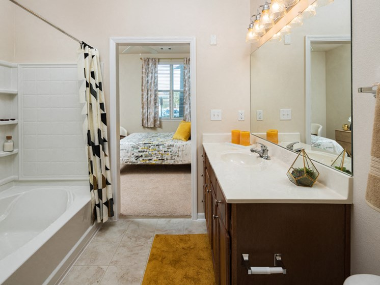 Spacious Bedrooms With en Suite Bathrooms at Abberly at West Ashley Apartment Homes by HHHunt, Charleston, South Carolina