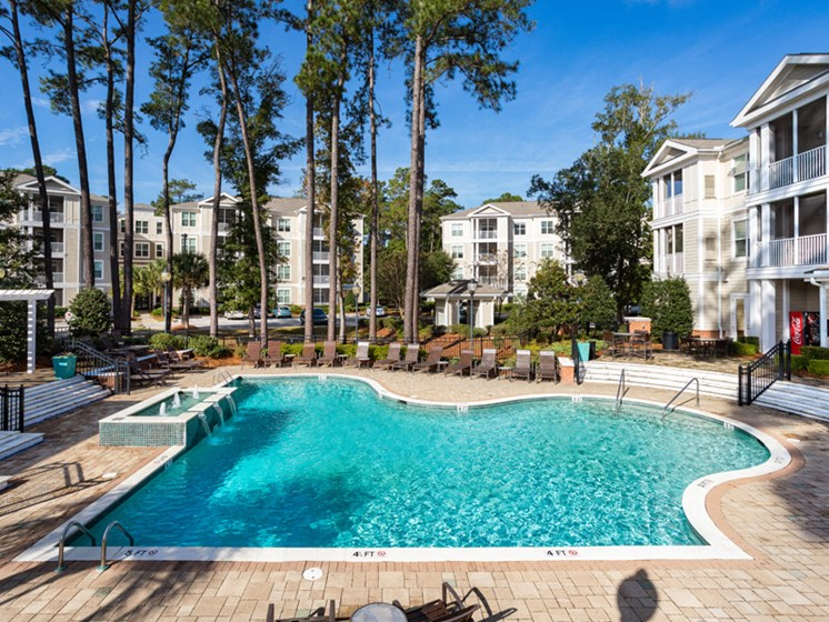 Swimming Pool With Sparkling Water at Abberly at West Ashley Apartment Homes by HHHunt, Charleston, 29414