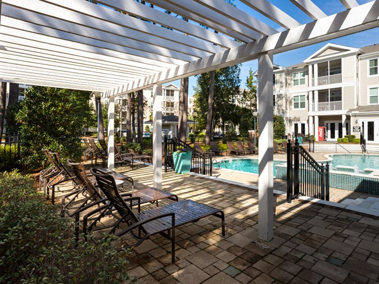 Covered Patio at Abberly at West Ashley Apartment Homes by HHHunt, Charleston, South Carolina