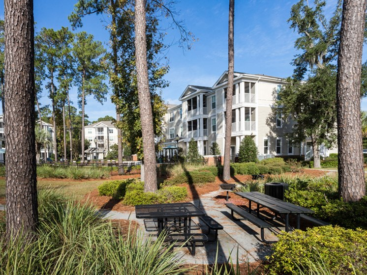 Secured Beautiful Gardens at Abberly at West Ashley Apartment Homes by HHHunt, Charleston, SC, 29414