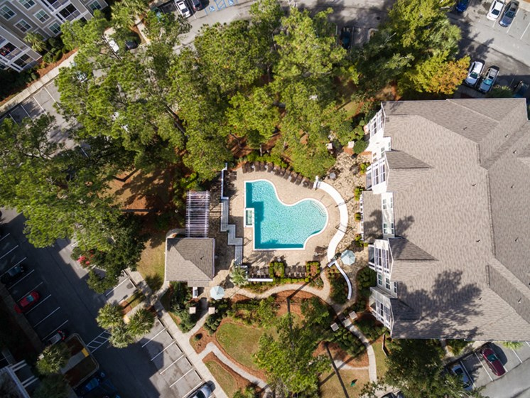 Bird-Eye View of Property at Abberly at West Ashley Apartment Homes by HHHunt, South Carolina, 29414