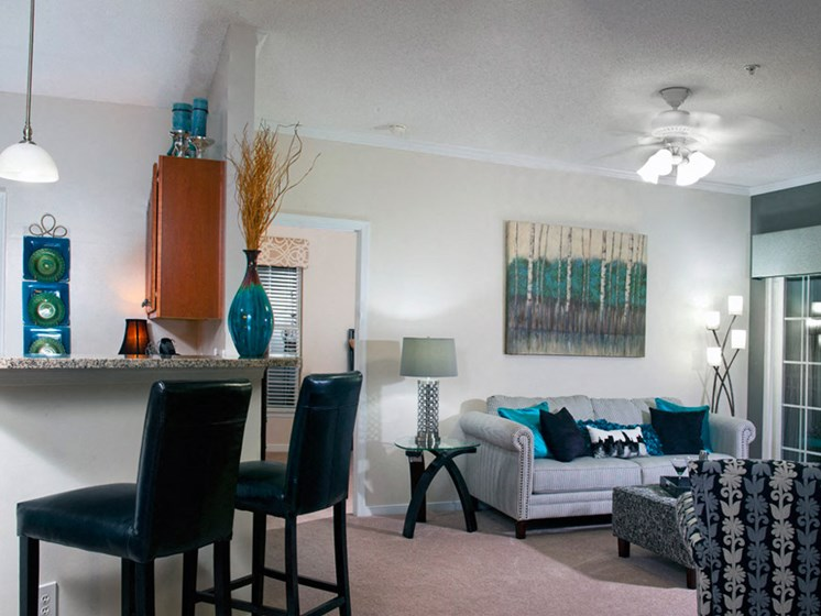 Classic Living Room Design at Abberly Twin Hickory Apartment Homes by HHHunt, Glen Allen, VA, 23059