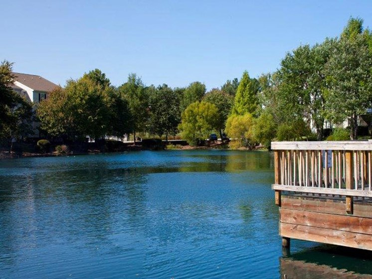 Pristine Pond Landscaping at Abberly Twin Hickory Apartment Homes by HHHunt, Virginia, 23059