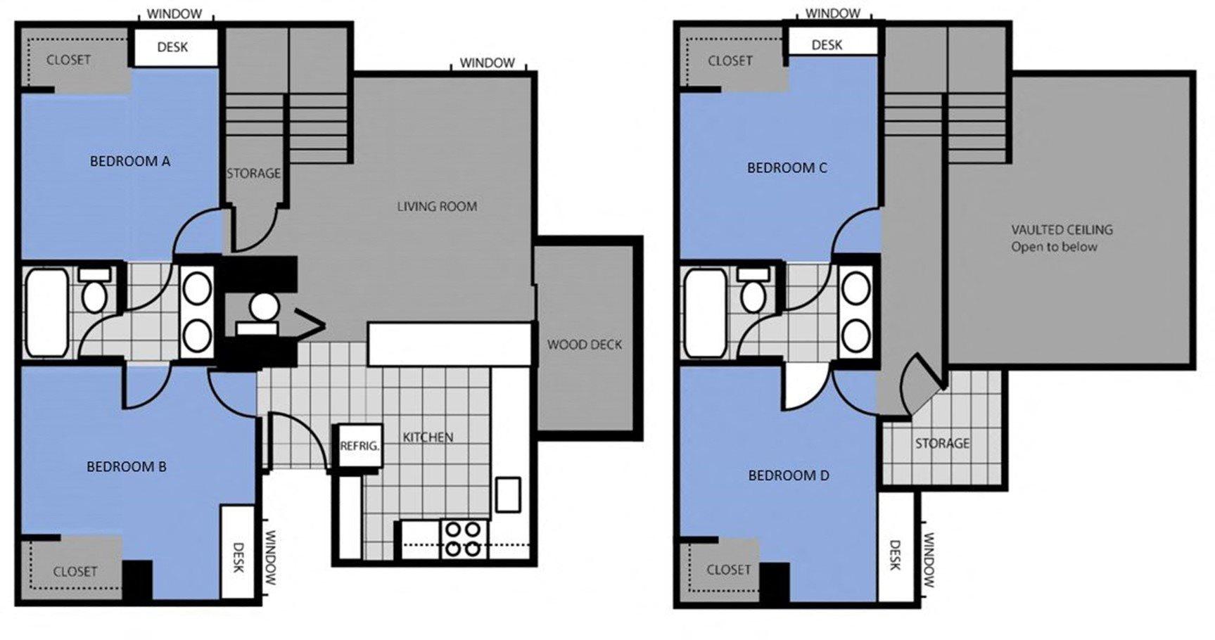 Studio 1 2 3 4 Bedroom Apartments In Flagstaff Az Highland Village Apartments
