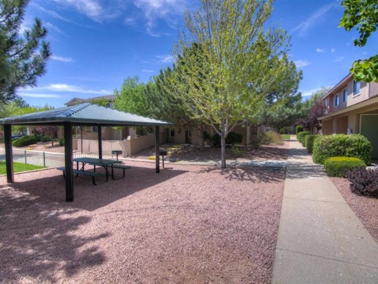 Beautiful Gazebo and Walking Trails at Country Club Terrace Apartments, 5404 East Cortland Blvd, 86004