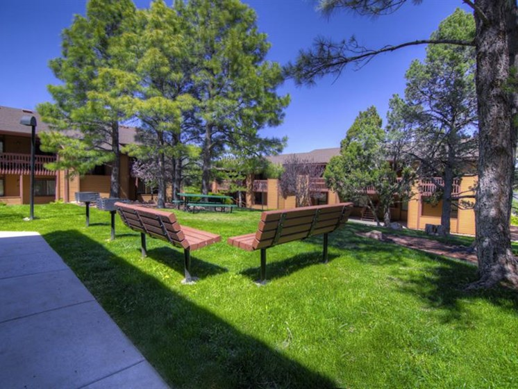 Beautiful Landscaping With Park Like Setting at Butterfield Apartments, Flagstaff, AZ,86004
