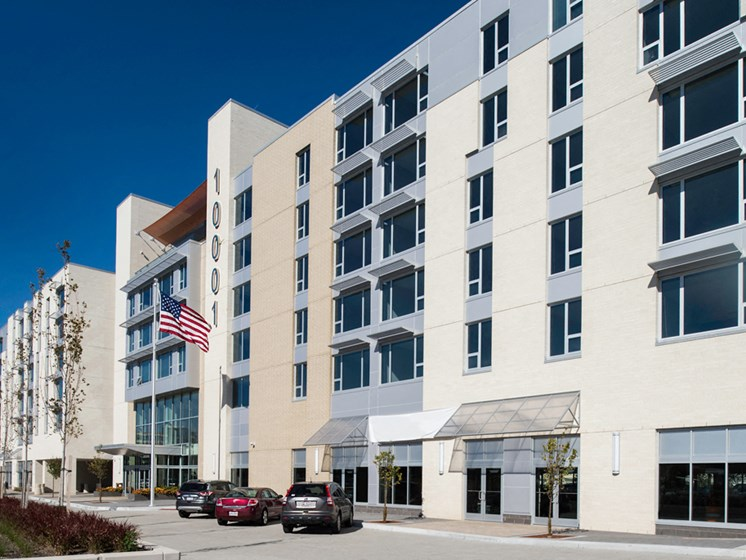 Exterior at Innova Apartments in University Circle neighborhood of Cleveland, OH