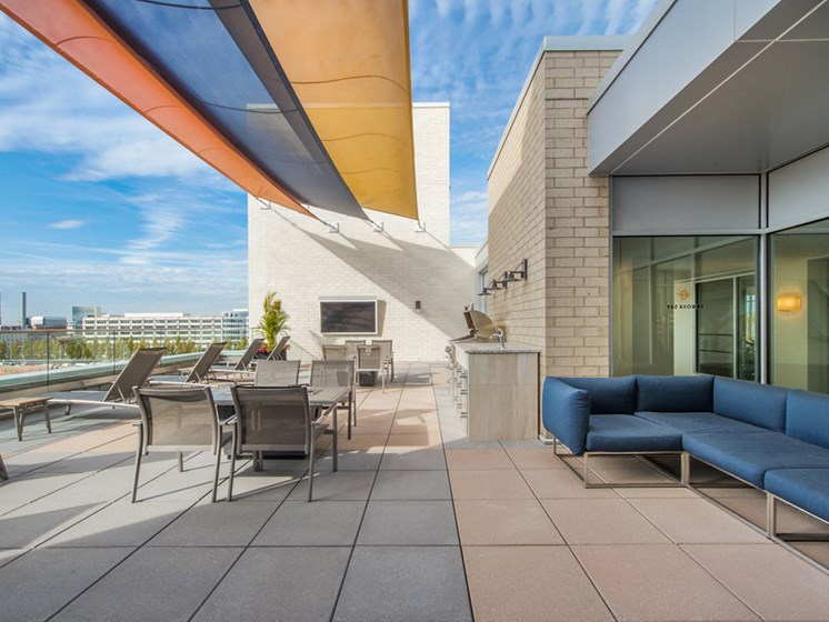 Sky Deck at Innova Apartments in University Circle neighborhood of Cleveland, OH