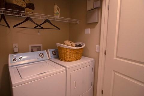 Overlook at Gwinnett Stadium model laundry room