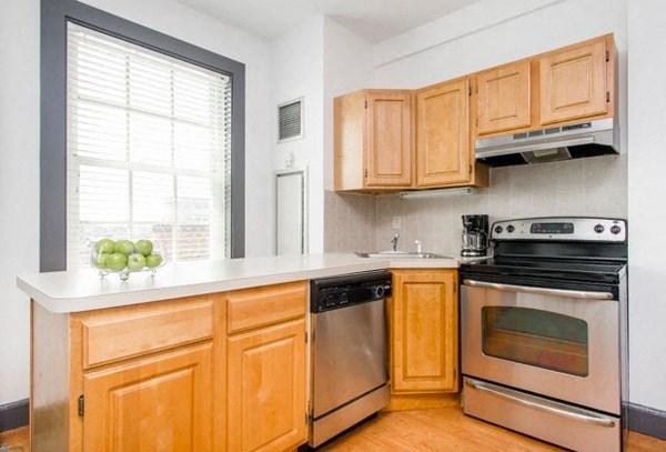 Modern kitchens at Clarendon Residences in Boston.