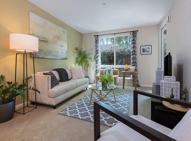 model furnished living room