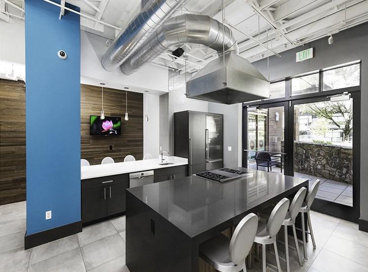 apartment resident lounge kitchen