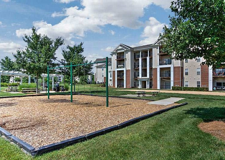 Beautifully Landscaped Grounds at Abberly Woods Apartment Homes by HHHunt, Charlotte, NC