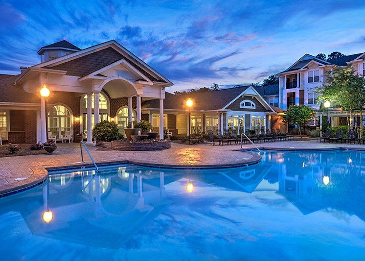 A fantastic location with city views at Abberly Woods Apartment Homes by HHHunt, North Carolina