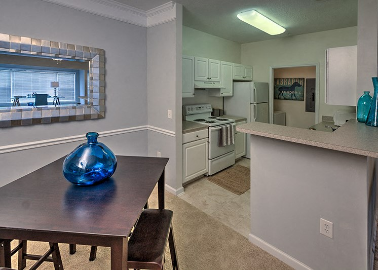 Custom kitchens with two color schemes to choose from at Abberly Woods Apartment Homes by HHHunt, Charlotte, NC 28216