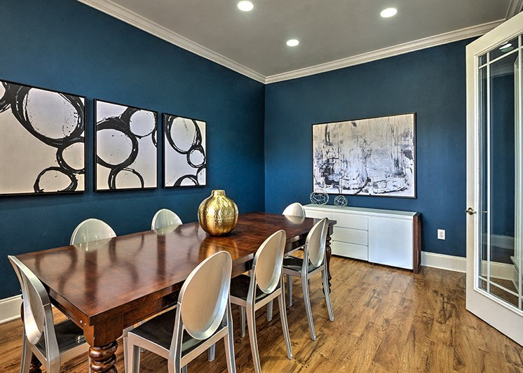 Ample social spaces in our clubhouse at Abberly Woods Apartment Homes by HHHunt, North Carolina, 28216