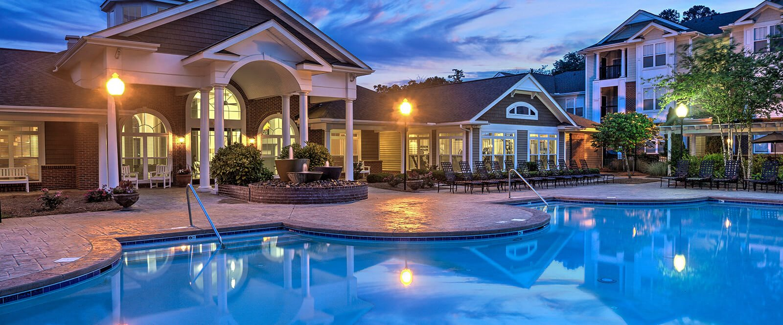 Great pool views from many of their apartments at Abberly Woods Apartment Homes by HHHunt, North Carolina, 28216