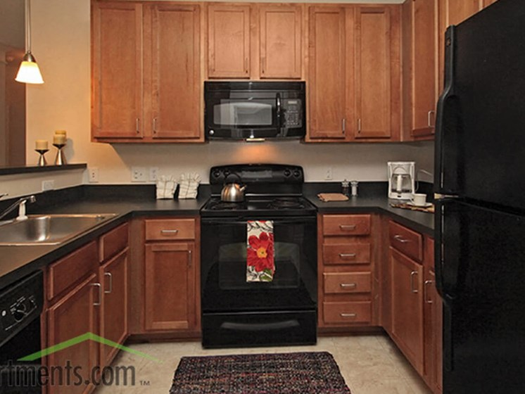 Chef Inspired Kitchens Feature Stainless Steel Appliances at Abberly Crest Apartment Homes, HHHunt, Lexington Park, Maryland