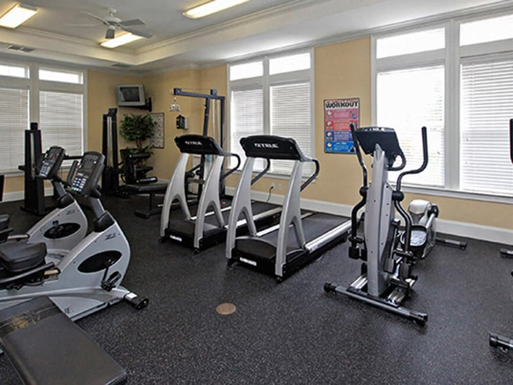 Cardio Machines In Gym at Abberly Crest Apartment Homes, HHHunt, Lexington Park