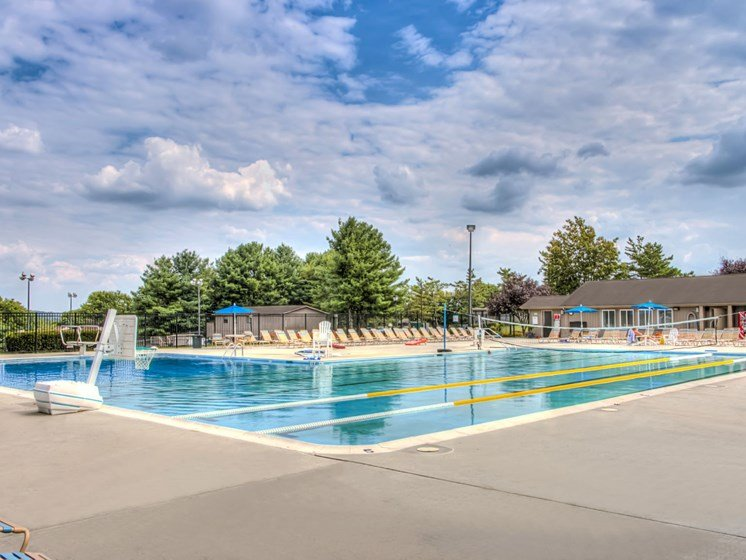 Pool side and sundeck at Foxridge Apartment Homes, Virginia, 24060