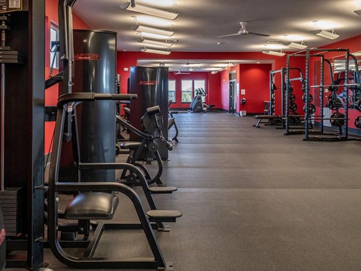 Fitness center at Foxridge Apartment Homes, Blacksburg