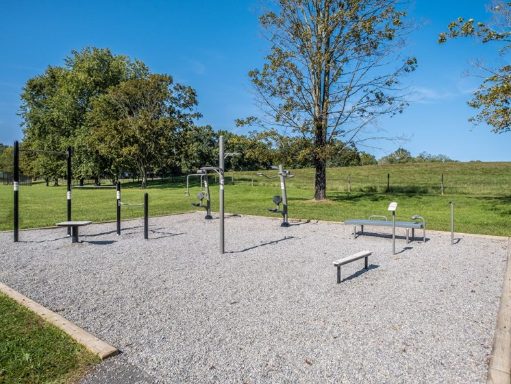 Outdoor Fitness Area at Foxridge Apartment Homes, Blacksburg, VA
