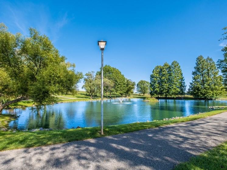 Lake view1 at Foxridge Apartment Homes, Blacksburg
