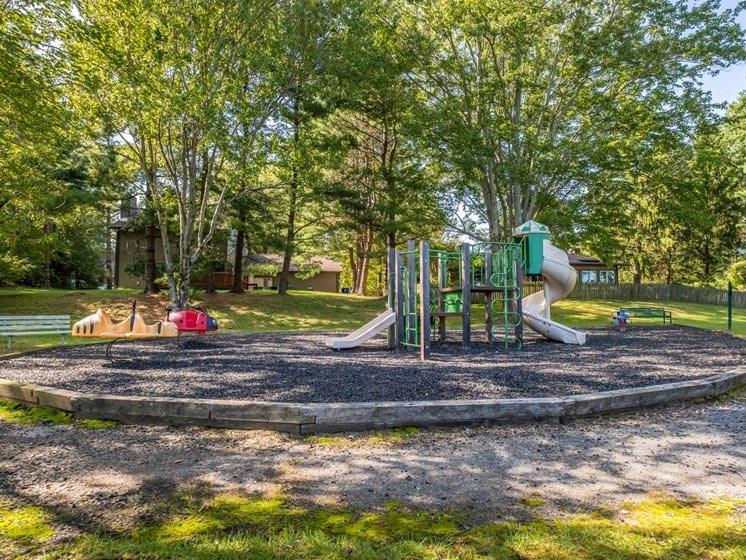 Playground with Mature Trees at Foxridge Apartment Homes, Virginia