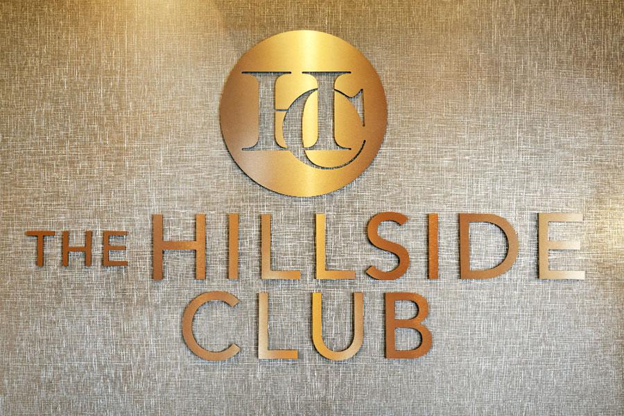 The Hillside Club Clubhouse Wall Logo at The Hillside Club, Livingston, 07039