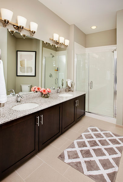 Bathroom With Vanity Lights at The Hillside Club, New Jersey