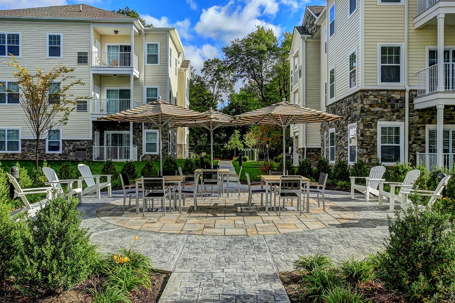 Outdoor Shaded Area at The Hillside Club, Livingston, New Jersey