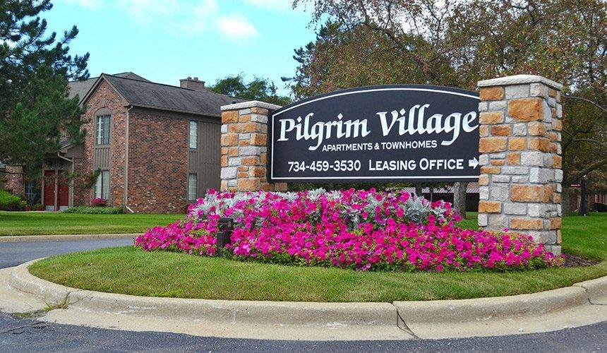 Signage at Pilgrim Village - Canton, MI, Canton, Michigan