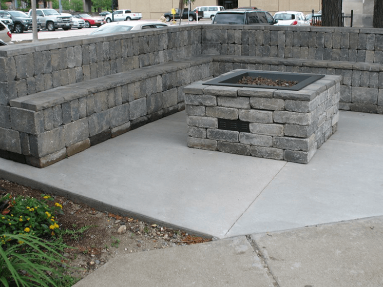 firepit at Moline apartments