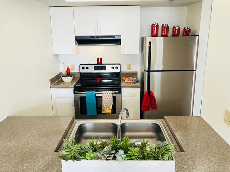 open apartment kitchen