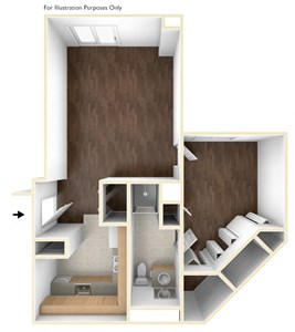 One Bedroom Apartment Floor Plan Laurelwood Place Apartments