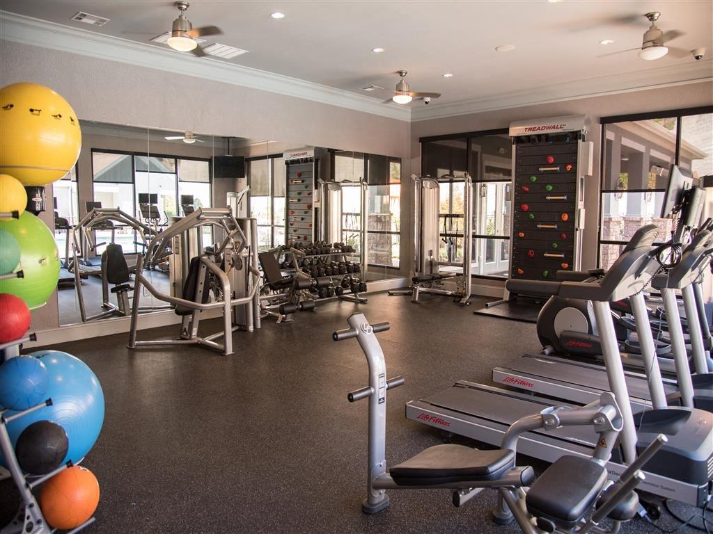gym equipment in fitness center
