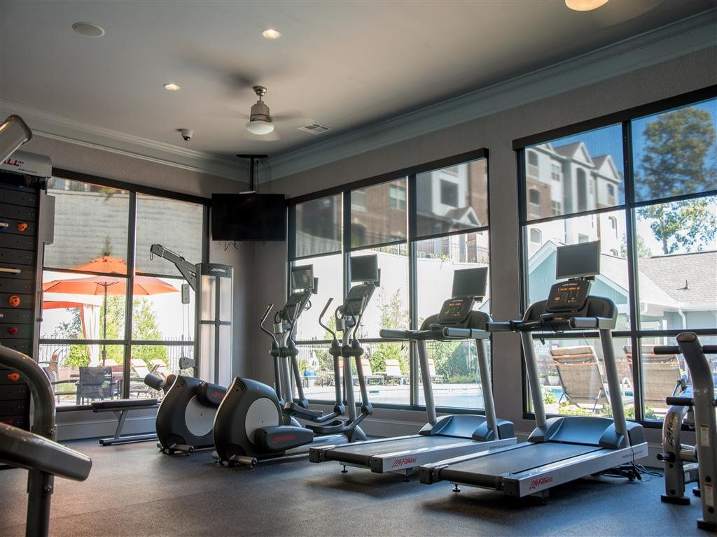 gym equipment at fitness center