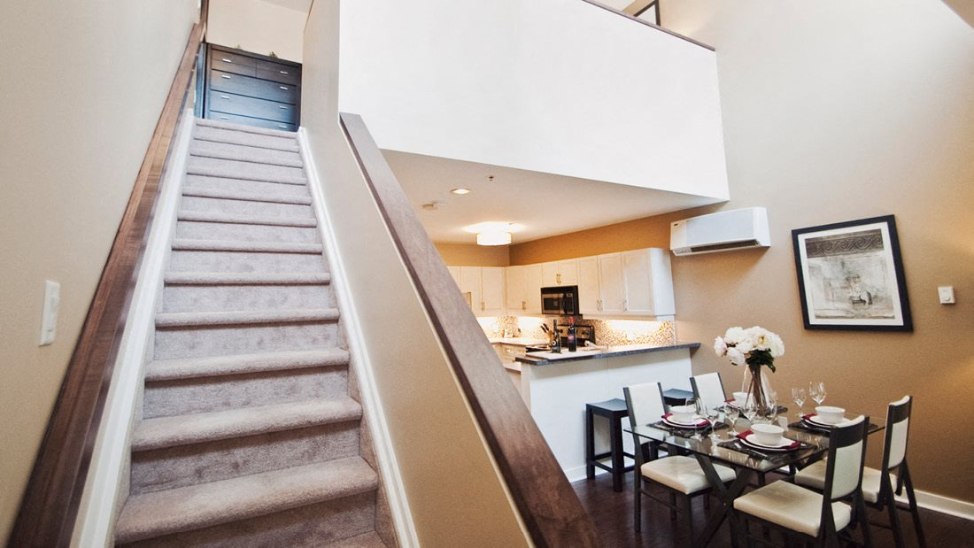 Stairs To Second Level In Apartment