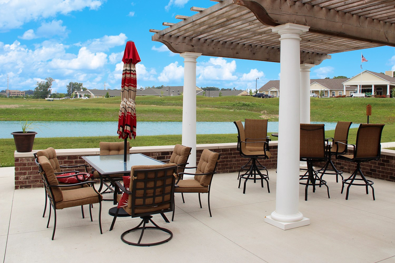 Sun Deck at Steeplechase at Parkview Apartments in Fort Wayne, IN